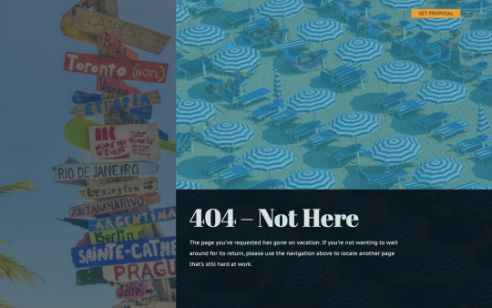 Agency 404 page screenshot