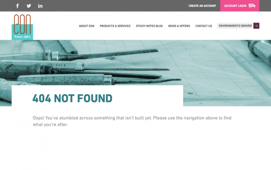EON Office 404 page screenshot