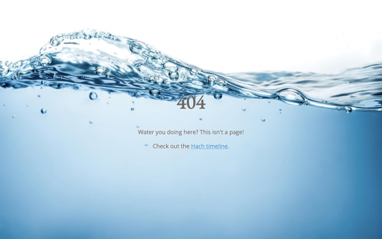 Hach 404 page screenshot